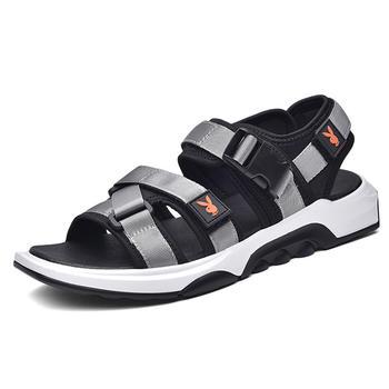 花花公子男鞋夏季凉鞋沙滩鞋露趾