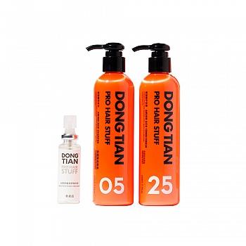 东田(DONGTIAN)氨基酸洗护套组(氨基酸洗发水220ml+氨基酸护发素220ml+头皮舒缓精华液30ml)