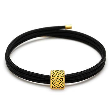阿梵尼 黄金守护黑色磁力绳手链