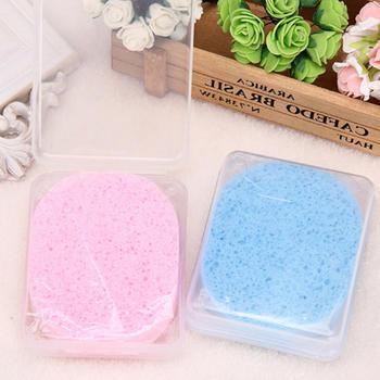 洗脸扑盒装木浆棉洗面巾海绵巾