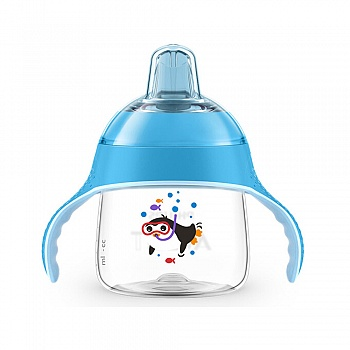 飞利浦新安怡七安士卡通企鹅杯(蓝色)SCF751-34