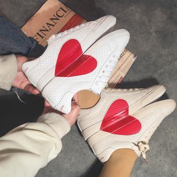 娅莱娅镂空透气爱心潮款小白鞋