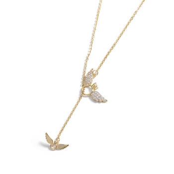 CROCUS金色翅膀造型合金项链61562