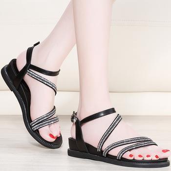 罗马凉鞋新款女夏平底仙女鞋