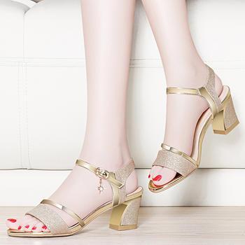 ?#25351;?#20937;鞋女学生夏韩版中跟女凉鞋