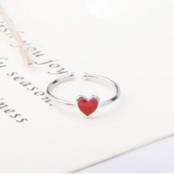 韩版时尚个性 桃心戒指