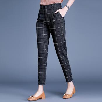 新款裤女九分裤条纹女装女裤DC2251