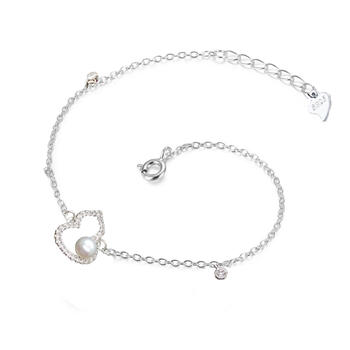 925纯银淡水珍珠葫芦手链 福禄
