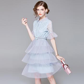 SEEYA希娅 气质收腰超仙蕾丝连衣裙