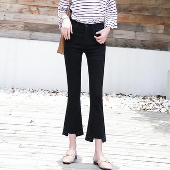 微喇叭裤牛仔裤W8910女装新款韩版