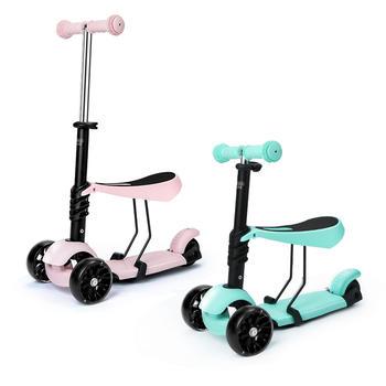 贝恩施 儿童滑板车闪光轮溜娃车