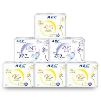 ABC棉柔甜睡超吸防侧漏卫生巾6包
