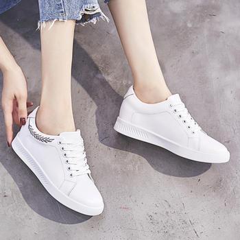ZHR-【牛皮内增高】圆头小白鞋