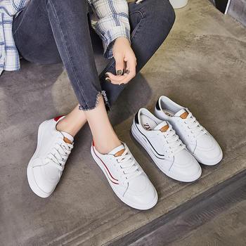 ZHR-【牛皮】时尚拼色青春小白鞋