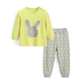 优贝宜 儿童内衣套装纯棉 英文兔