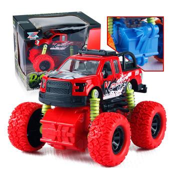 奥贝比四驱越野车回力攀爬玩具车