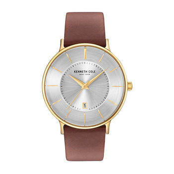 Kenneth Cole商务单历皮带石英手表