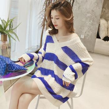 天使格格新款韩版慵懒风针织衫