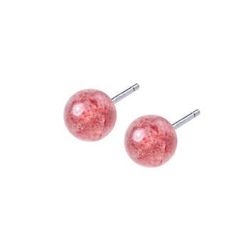 简约百搭草莓晶耳钉甜美闺蜜礼物时尚气质