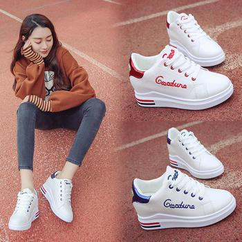 韩版白鞋子内增高小白鞋休闲鞋
