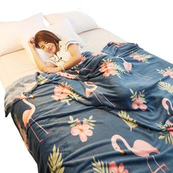 馨丝蓝法莱绒毛毯盖毯空调毯