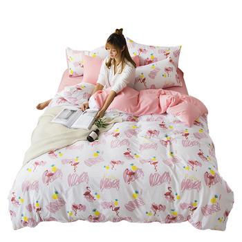 馨丝蓝水洗棉四件套床品套件