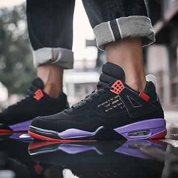 跨洋 时尚英伦风运动男鞋 黑紫