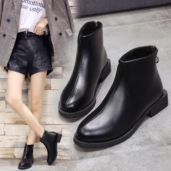 秋季马丁靴女学生韩版百搭矮靴