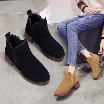 2018新款冬季马丁靴女韩版短靴子