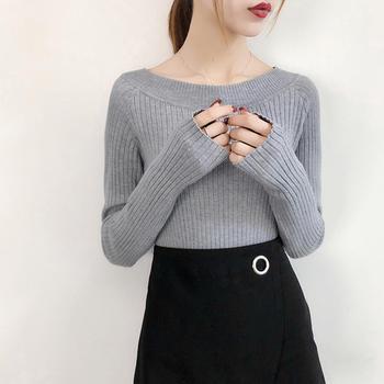 咸素韩版圆领针织衫毛衣打底衫