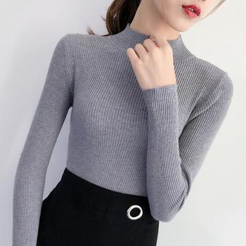 咸素秋季长袖针织衫毛衣打底衫