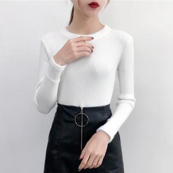 伊春美韩版修身加厚打底衫针织衫