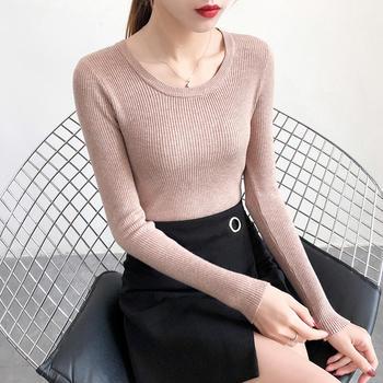 伊春美新款长袖圆领打底衫针织衫