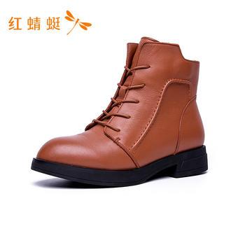 红蜻蜓粗跟女靴C735303