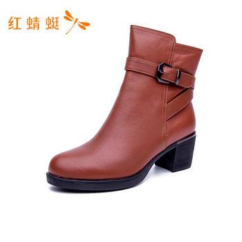 红蜻蜓高帮女靴C62690