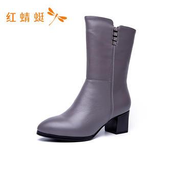 红蜻蜓女靴秋冬C774412