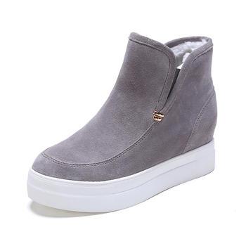 达芙妮圆头套脚内赠高女短靴