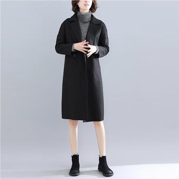衣织优美 秋冬新款双面羊绒大衣