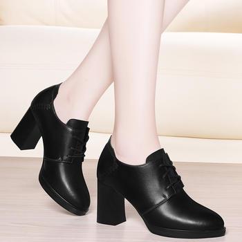 简约女鞋?#25351;?#20241;闲百搭高跟单鞋