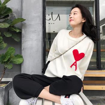 HiDou 两色爱心毛衣