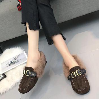 ADK毛毛鞋新款百搭韩版外穿豆豆鞋