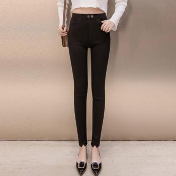 衣织优美 加绒魔术黑色打底裤