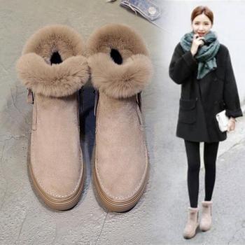 雪地靴女短筒韩版2018新款加绒靴