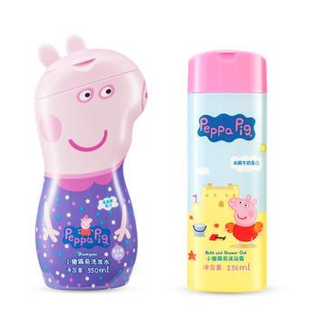 小猪佩奇2件套沐浴露+洗发水