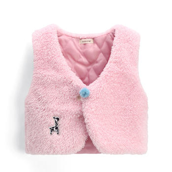 猪猪的故事女童夹棉加厚马甲背心