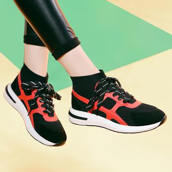 韩版女轻便透气网面跑步鞋女