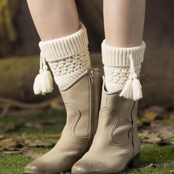 天使格格欧美护腿套保暖毛线靴套