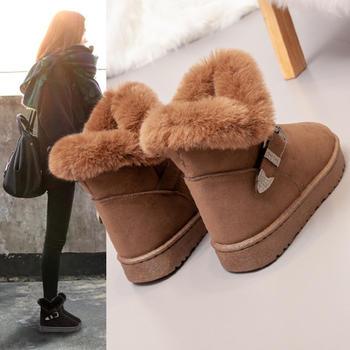 2018冬季新款女靴百搭韩版短筒靴