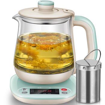 小熊养生煮花茶器电热玻璃烧水壶炖煮分体牛奶加热杯