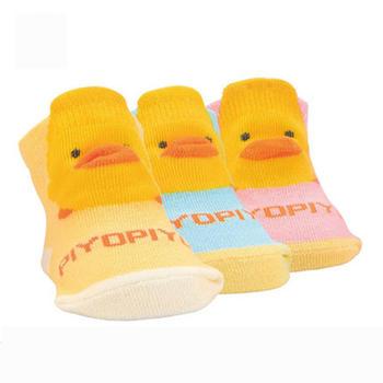 黄色小鸭造型立体袜